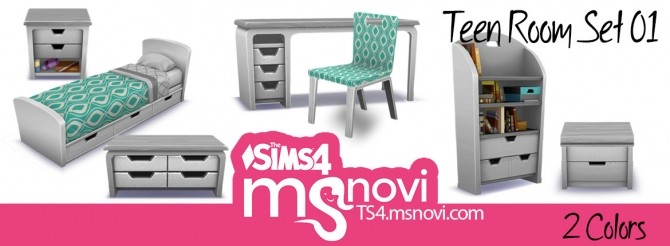 Teen Room Set 01 at TS4 msnovi » Sims 4 Updates