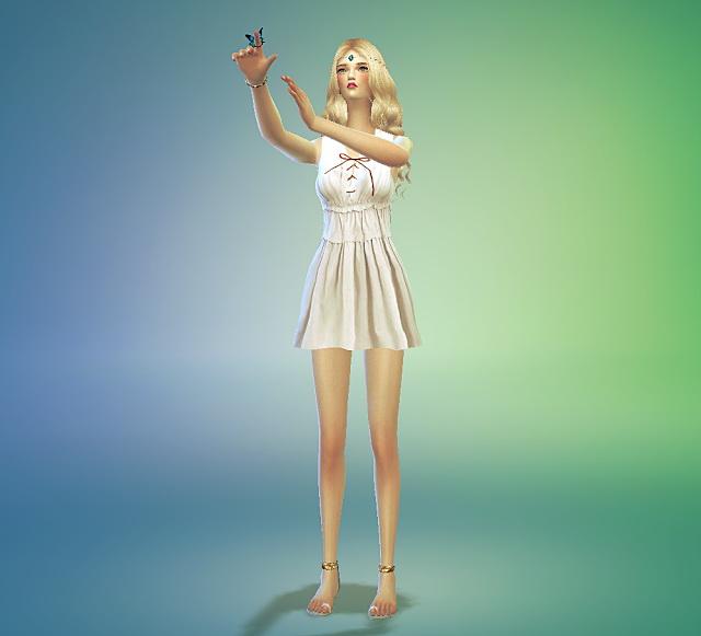 Sims 4 Lace up dress at Marigold