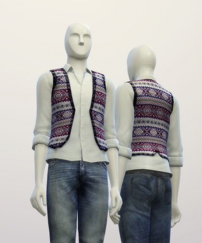 Snowflake pattern vest at Rusty Nail image 7521 670x804 Sims 4 Updates