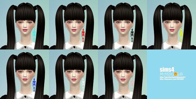 Skeleton earrings at Marigold image 760 Sims 4 Updates