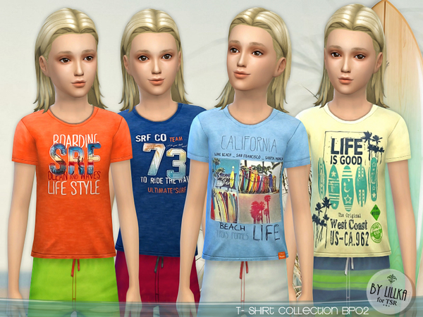Sims 4 T  Shirt Collection for Boys P02 by Lillka at TSR