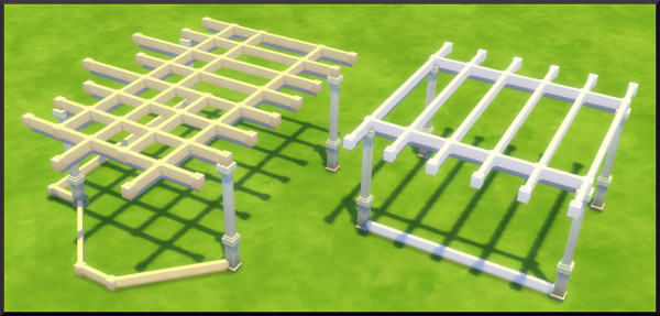 Sims 4 Rafters fence by Christine1000 at Sims Marktplatz