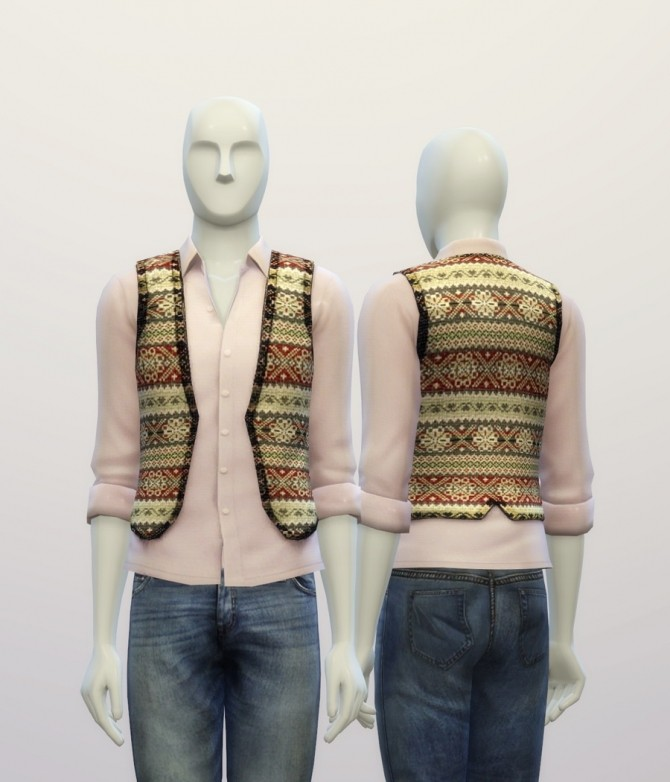 Snowflake pattern vest at Rusty Nail image 7717 670x782 Sims 4 Updates