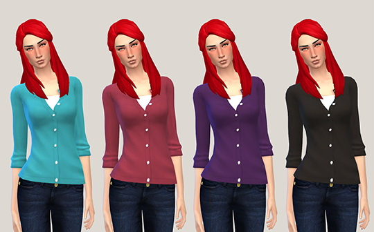 Rolled cardigan at Femme Jean image 7816 Sims 4 Updates