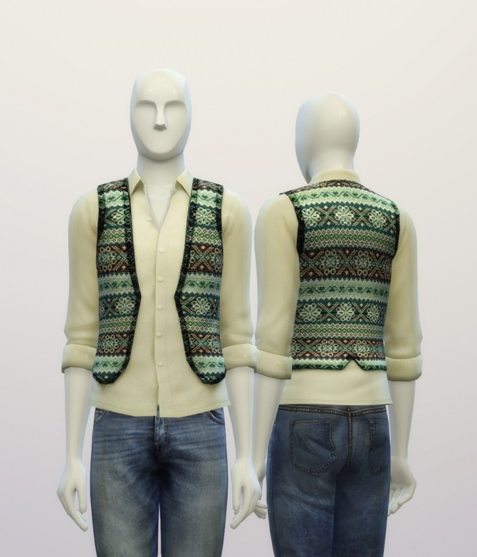 Snowflake pattern vest at Rusty Nail image 7820 670x782 Sims 4 Updates