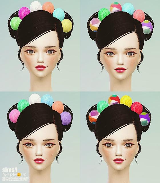 Sims 4 Pom pom head band at Marigold