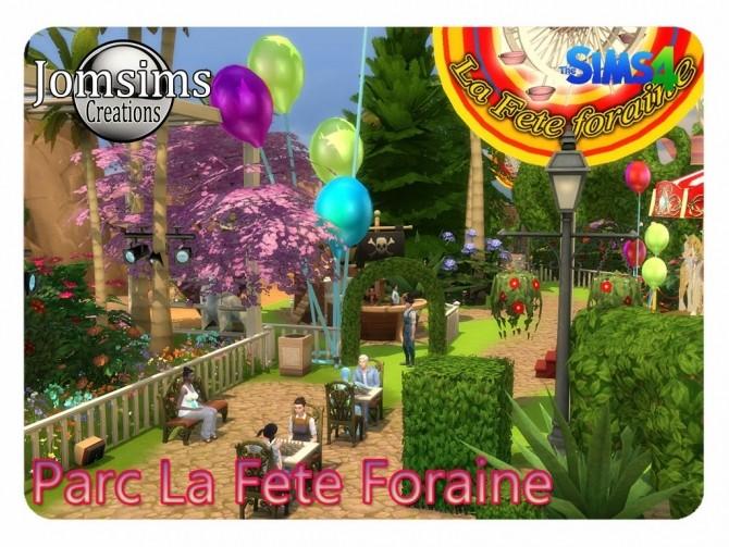 Sims 4 La Fete Foraine Decorative Park at Jomsims Creations