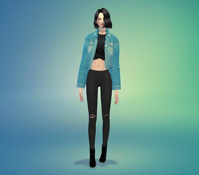Paris bathroom decor - Acc Denim Short Jacket At Marigold Image 8019 Sims 4 Updates