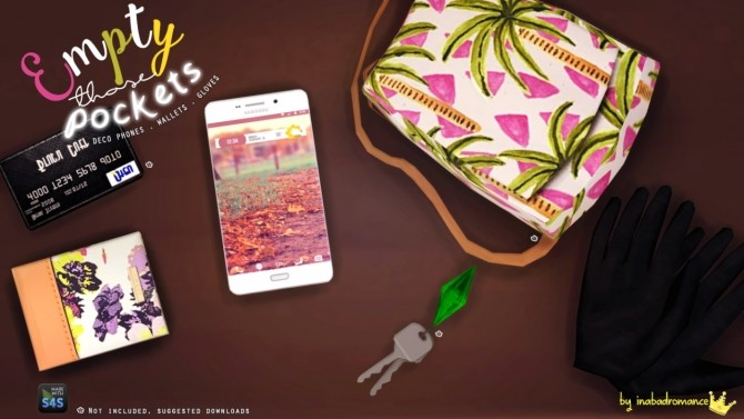 Sims 4 DECO Phones + Wallets + Gloves at In a bad Romance