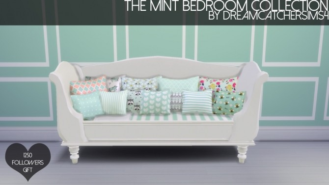 The Mint Bedroom Collection at DreamCatcherSims4 187 Sims 4  : 804 670x377  from sims4updates.net size 670 x 377 jpeg 39kB