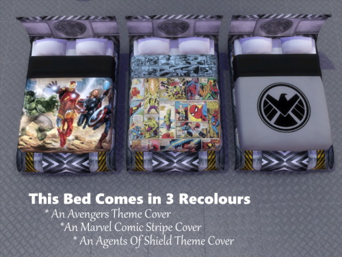 Marvel Shield Themed Bed At Twistedfoil 187 Sims 4 Updates