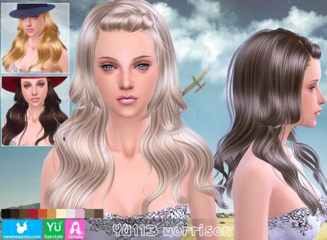 Sims 4 YU113 Morrison hair (Donate) at Newsea Sims 4
