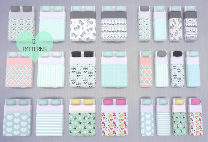 Sims 4 The Mint Bedroom Collection at DreamCatcherSims4