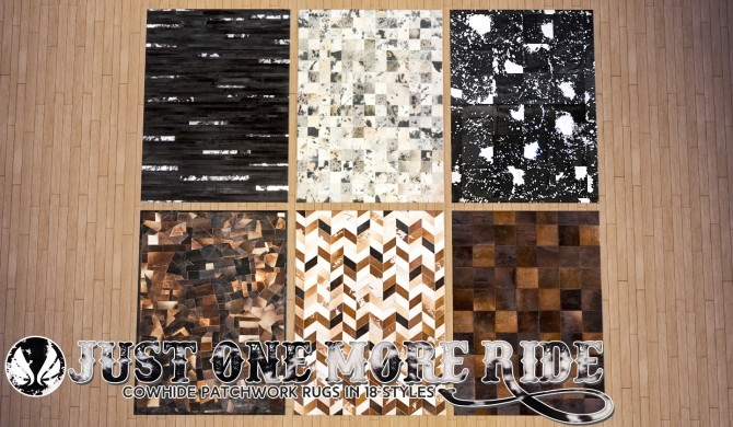 Sims 4 Patchwork Leather Rugs Part II at Simsational Designs