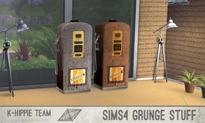 Sims 4 10 gas pump recolours Grunge Stuff volume 1 & 2 at K hippie