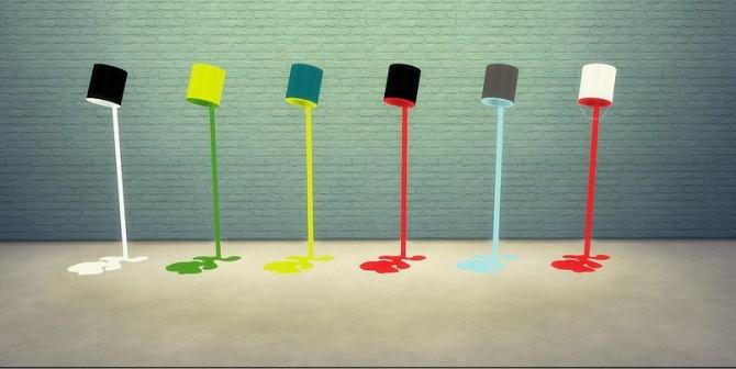 Paint Pot Floor Lamp at Meinkatz Creations image 827 670x336 Sims 4 Updates
