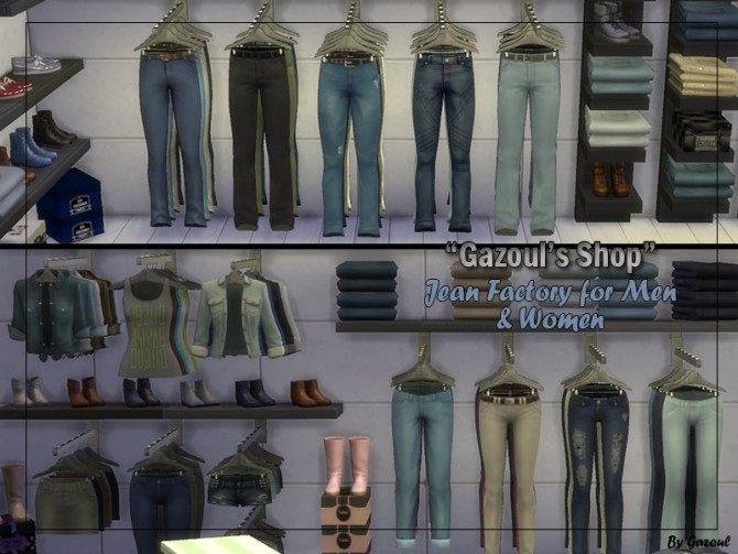 Jeans Shop At Gazoul 187 Sims 4 Updates