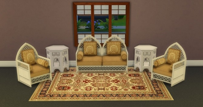 Moroccan Living Set By Lexicon Luthor Sims 4 Updates