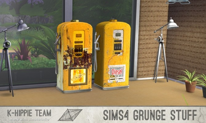 10 gas pump recolours Grunge Stuff volume 1 & 2 at K hippie image 8326 670x402 Sims 4 Updates