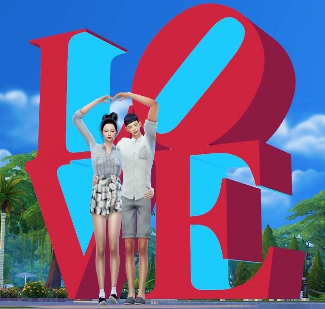 Dominationkid, Kiru, Dearkim LOVE collaboration: sculpture & poses at Dominationkid image 8520 670x637 Sims 4 Updates