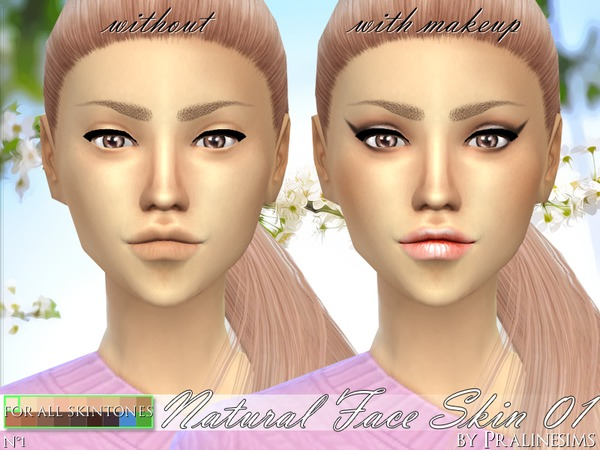 PS Natural Face Skin 01 by Pralinesims at TSR image 859 Sims 4 Updates