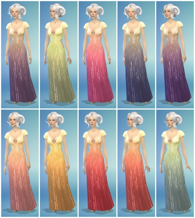 Sims 4 10 Short Sleeve Luxury Dress Recolors at The Simsperience
