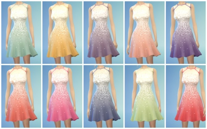 Sims 4 10 Luxury Cocktail Dress Recolors at The Simsperience