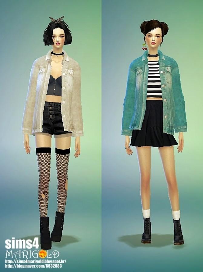 Acc Denim Jacket At Marigold 187 Sims 4 Updates