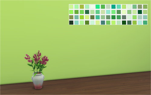 Sims 4 60 Shades of Green Walls at Veranka