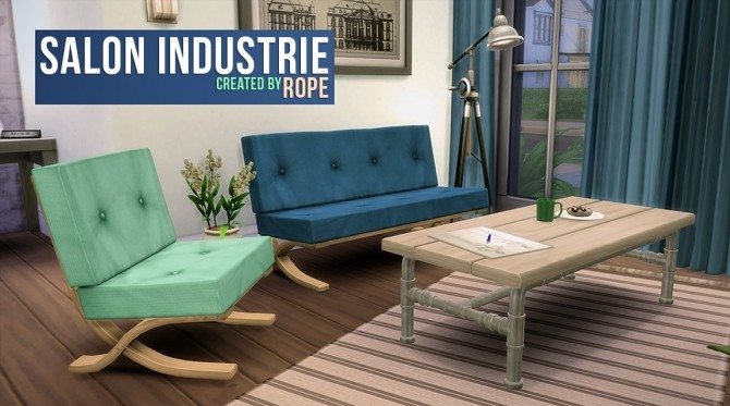 Salon industrie by rope at simsontherope sims 4 updates for Industrie salon