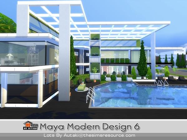 Sims 4 Maya Modern Design 6 house by autaki at TSR