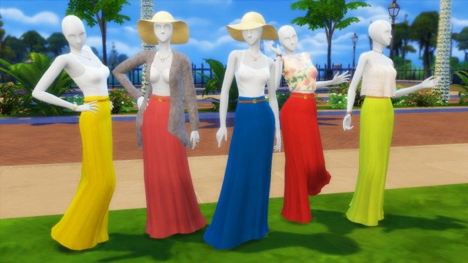 Sims 4 Belted Summer Skirts at Marvin Sims