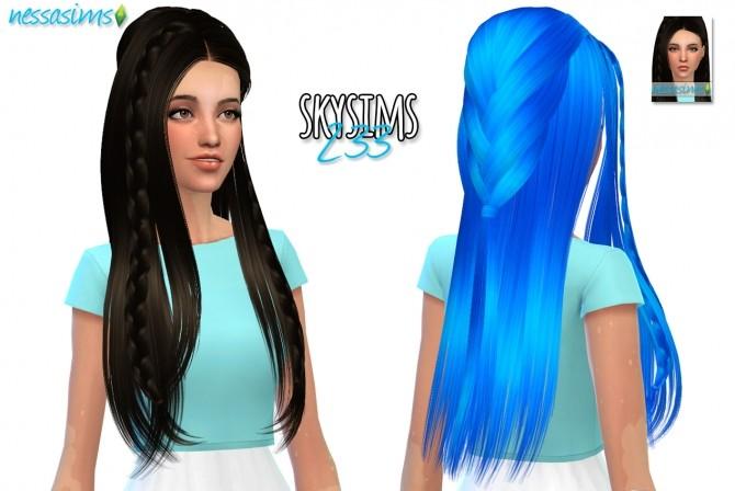 Sims 4 Skysims Hair 233 Retexture at Nessa Sims