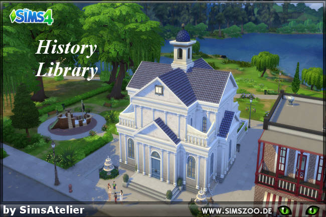 Sims 4 History Library by SimsAtelier at Blacky's Sims Zoo