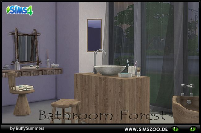 Sims 4 Forest bathroom by BuffyASummers at Blacky's Sims Zoo
