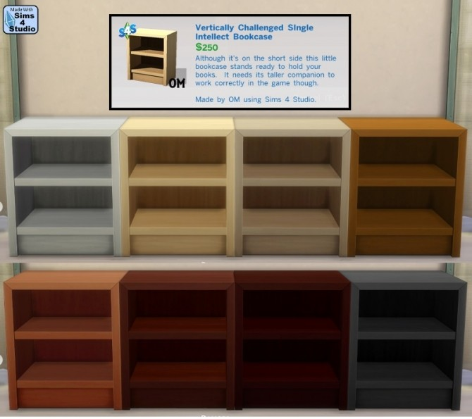 Vertically Challenged Single Intellect Bookcase at Sims 4 Studio image 9510 670x595 Sims 4 Updates