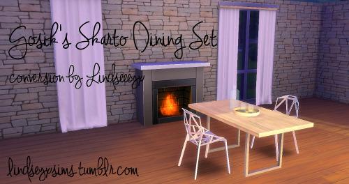 Sims 4 Gosiks Sharto dining set conversion at LindseyxSims