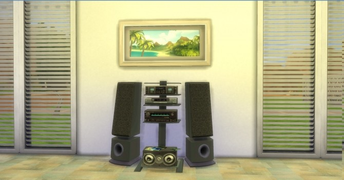 Sims 4 Soma AudioGeek Tower System by AdonisPluto at Mod The Sims