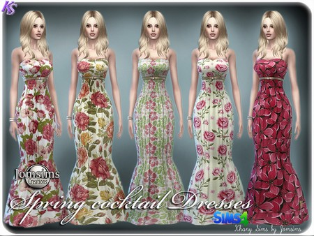 Sims 4 Spring cocktail dresses by Jomsims at Khany Sims