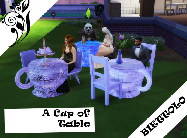 Sims 4 A cup of Table by Biettolo at The Sims Lover
