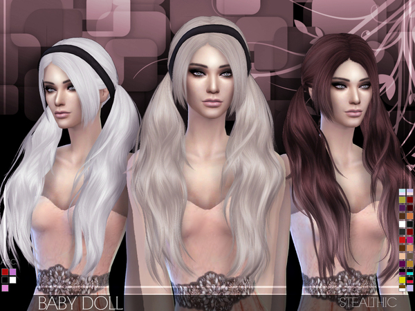 Sims 4 Baby Doll hair F by Stealthic at TSR