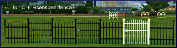 Eisenspeer Zaun fence by Christine1000 at Sims Marktplatz image 10017 Sims 4 Updates