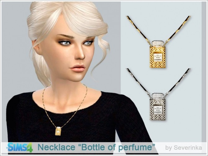 Necklace Bottle of perfume at Sims by Severinka image 10105 670x505 Sims 4 Updates