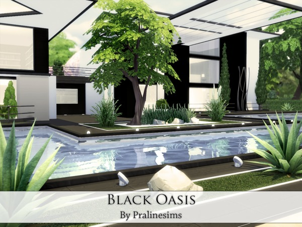 Black Oasis house by Pralinesims at TSR image 1016 Sims 4 Updates