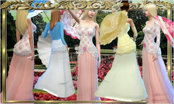 Victorian Dress With Bustle Set At Mythical Sims 187 Sims 4