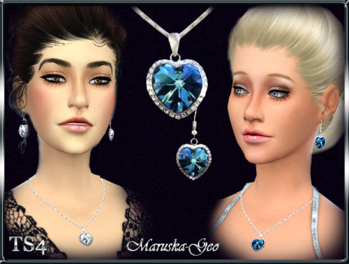 Heart Of The Ocean Necklace And Earrings At Maruska Geo