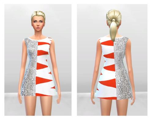 Sims 4 Dagmar Dress at McKenzie Layne