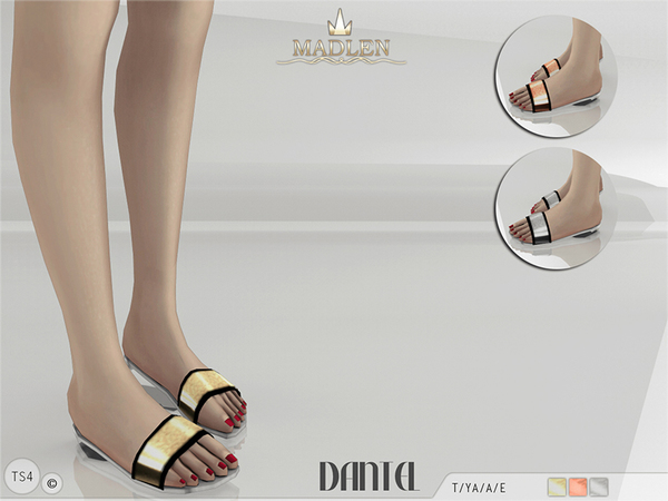 Sims 4 Madlen Dantel Slippers by MJ95 at TSR