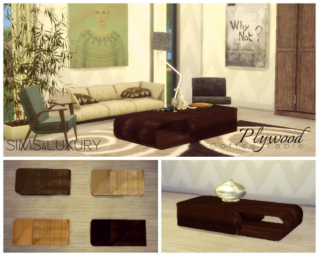 Ball Chair Amp Plywood Coffee Table At Sims4 Luxury 187 Sims 4