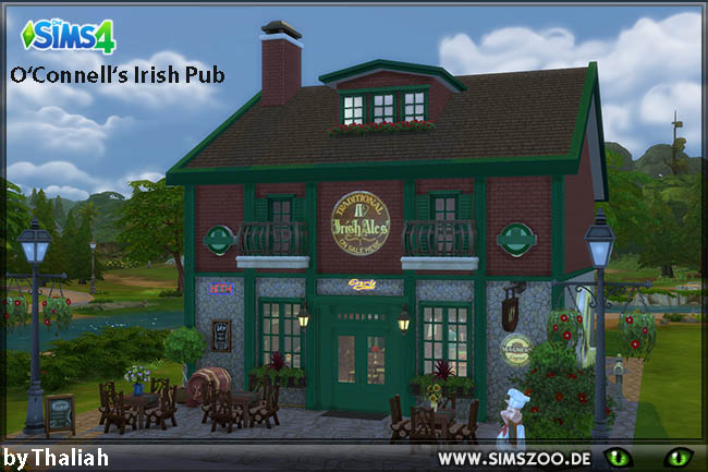 Sims 4 Irish Pub by Thalia at Blacky's Sims Zoo